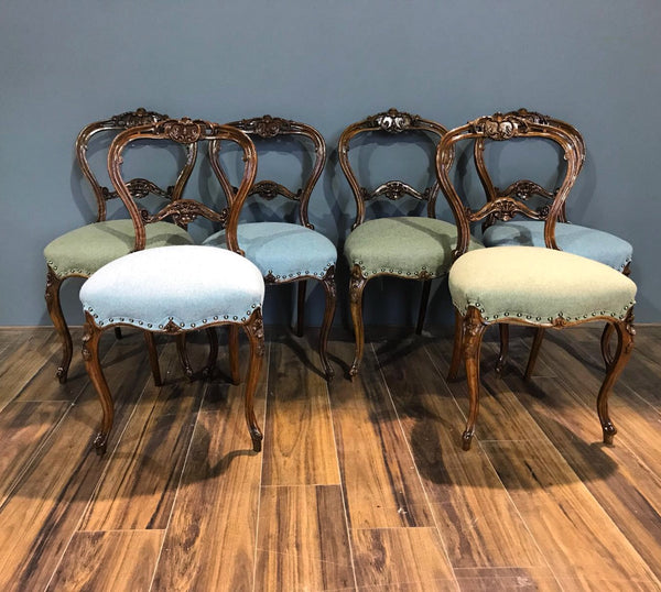 Group Of Antique Dining Chairs