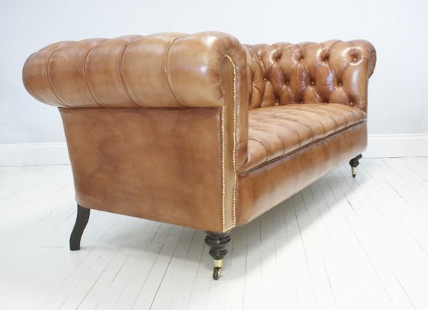 THE WILMINGTON CHESTERFIELD SOFA: LIGHT TAN