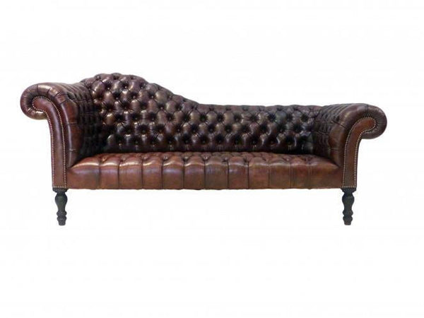 THE KEELER CHESTERFIELD SOFA : RICH BROWN
