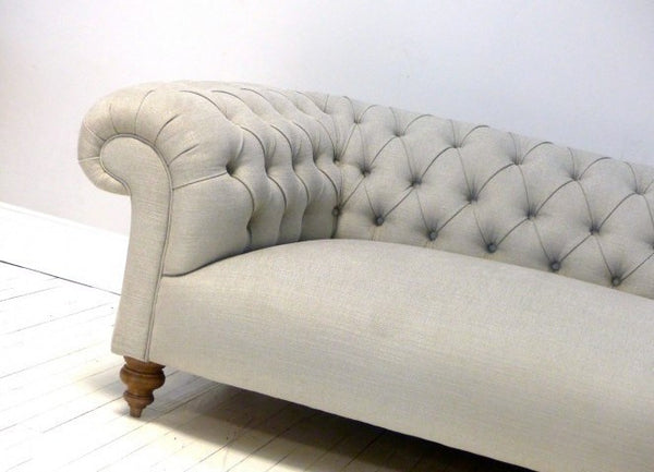 THE GODERICH SOFA IN GREY LINEN