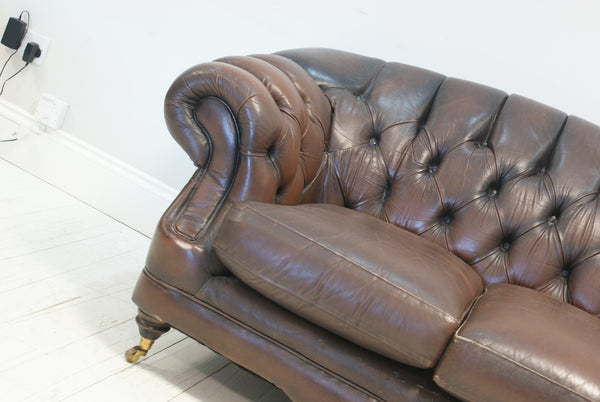 A VERY NICE PRELOVED CHESTERFIELD WITH HIGH BACK