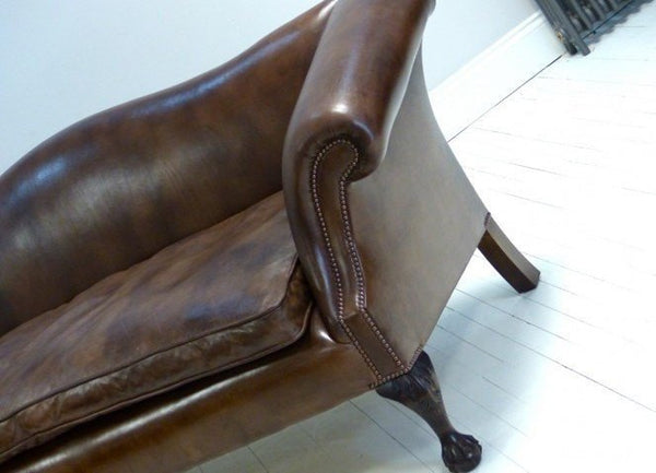 ROCKINGHAM CHIPPENDALE SOFA: RICH WALNUT