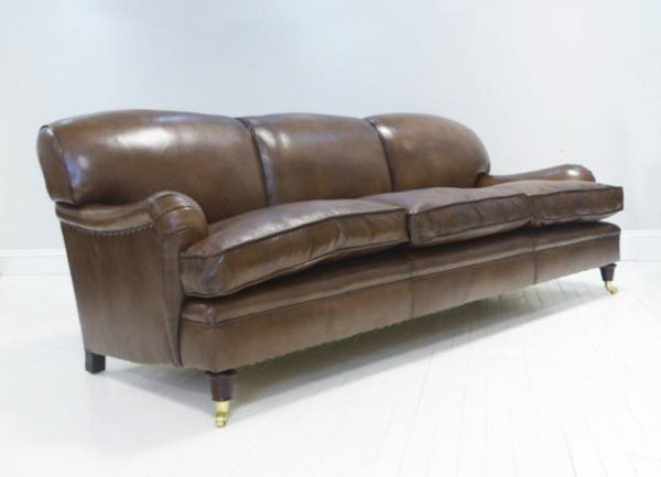 THE GRENVILLE SOFA, RICH BROWN