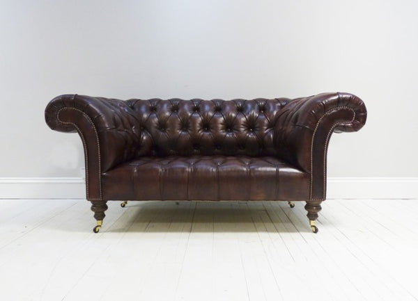Umber Brown Chesterfield Sofa