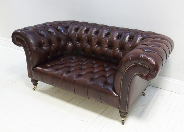 Beautiful Newcastle Chesterfield Sofa Umber Brown