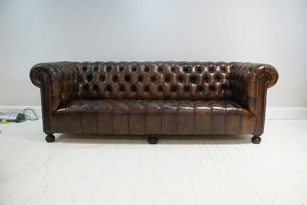 FOUR SEAT ANTIQUE CHESTERFIELD SOFA
