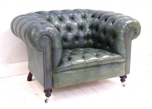 THE WILMINGTON CHESTERFIELD CLUBCHAIR, OLIVE