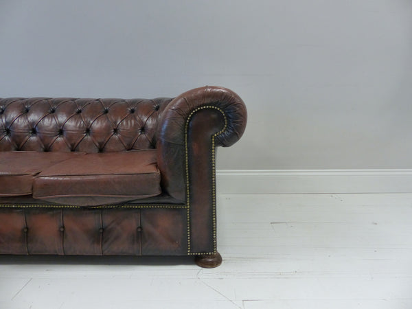 VINTAGE COIL SPRUNG CHESTERFIELD