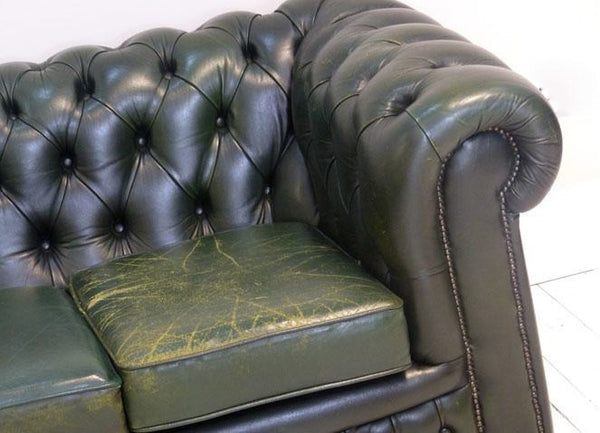 VERY NICE COUNTRY GREEN CHESTERFIELD