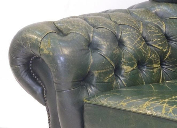VERY COOL VINTAGE GREEN MONK'S CHAIR