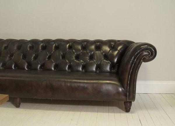 The 12ft Palmerstone Chesterfield Sofa – Rich Walnut