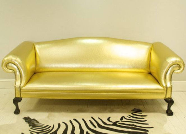 Alan Carr's Chatty Man Rockingham Chippendale Sofa – Golden Leather