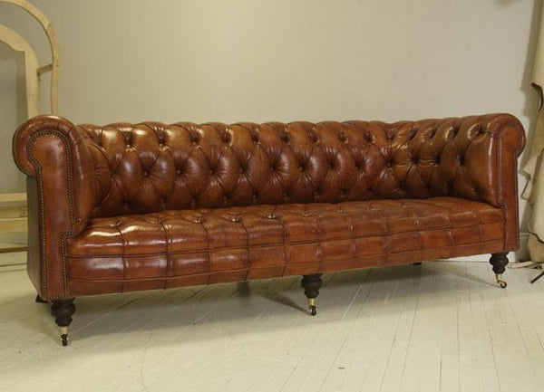 The Pelham Chesterfield Sofa – Tan Leather