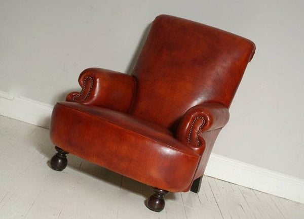 The Shelburne Armchair – Whiskey Leather