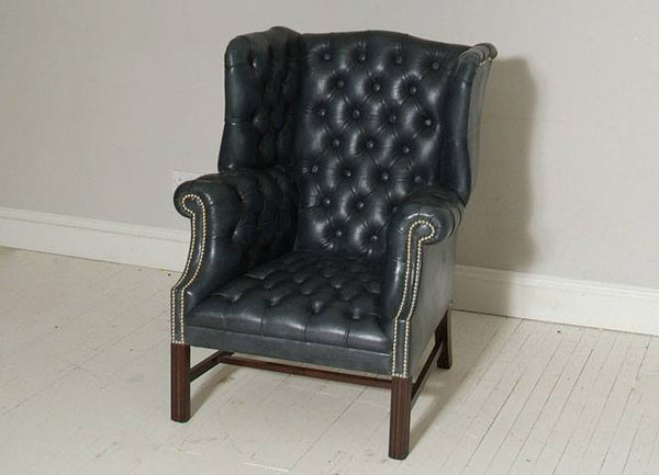 THE ELEPHANT GREY PORTLAND QUEEN ANNE CHAIR