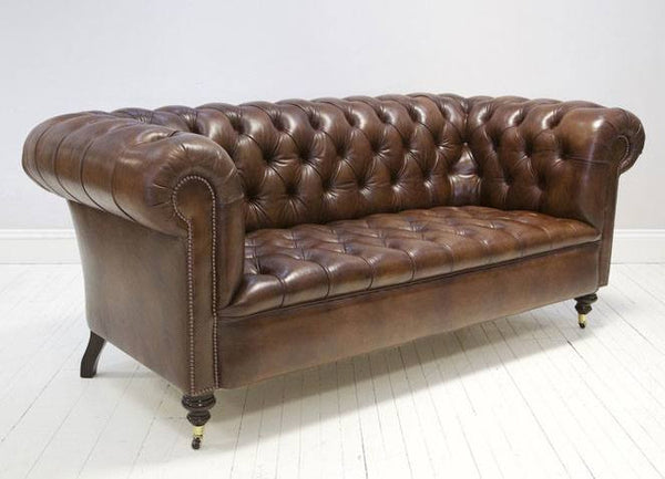 THE WILMINGTON LEATHER CHESTERFIELD SOFA