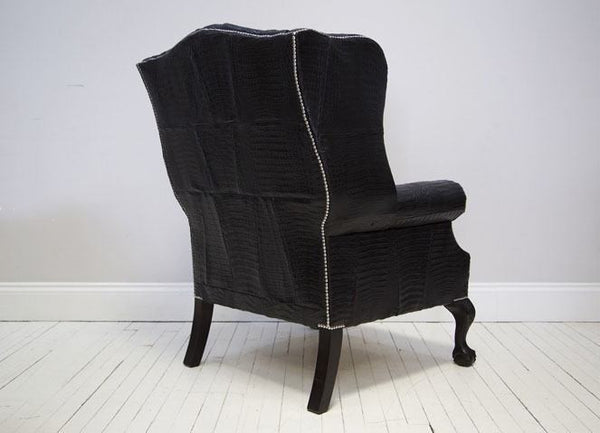THE DISRAELI : CROCODILE SKIN ARMCHAIR