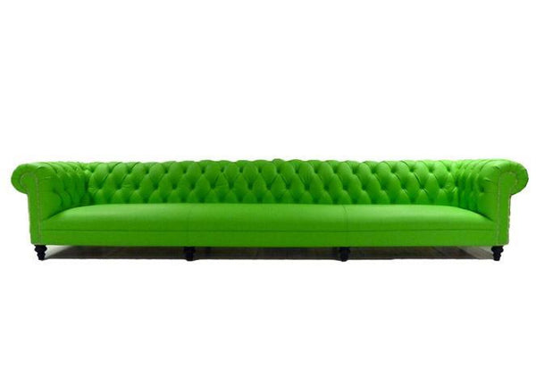 Andy Warhol 4m Lime Green Chesterfield Sofa