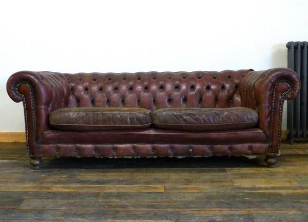 MID-CENTURY PAIR OF VINTAGE CHESTERFIELDS – TO BE RESTORED