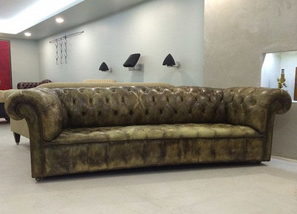 INCREDIBLE MATCHING PAIR OF EARLY 20TH CENTURY CHESTERFIELD