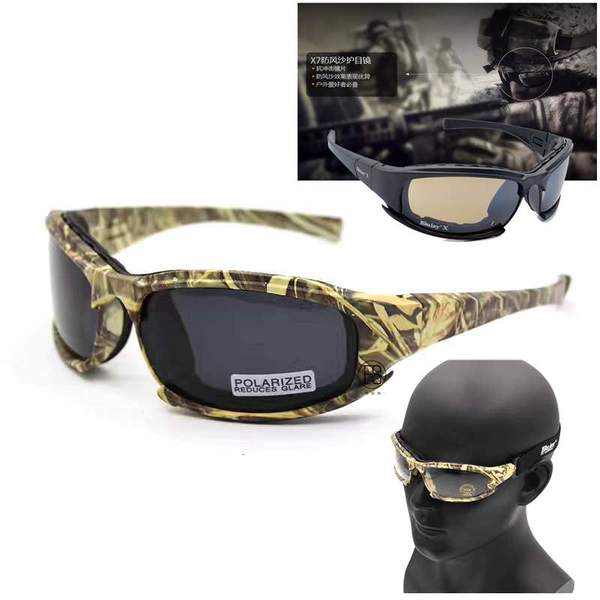 Camo/Black Polarized Tactical X7 Glasses