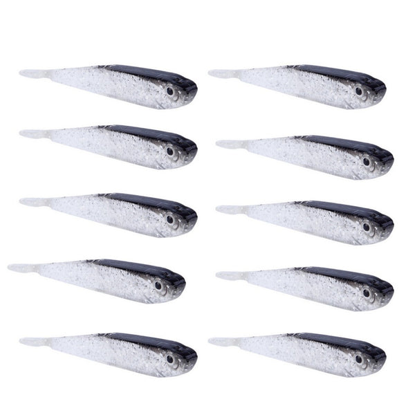 10 Pack, Silicone Soft Fish Lures