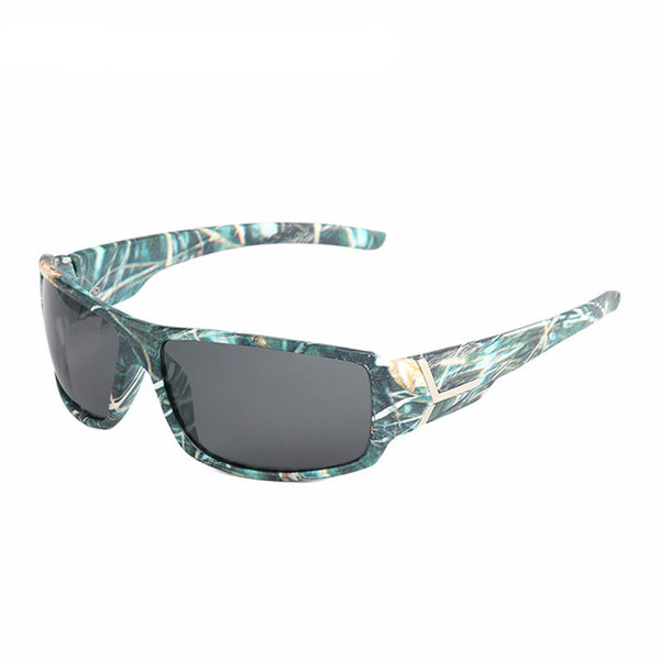 Camo Blue CAMO frame Gray Lens Polarized Sunglasses