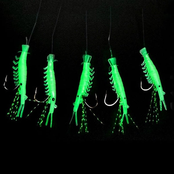 5pcs/Pack Soft Luminous Shrimp Like Artificial Fishing Bait