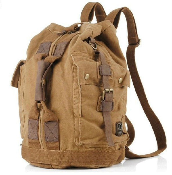 Vintage Military Canvas Men's Hiking Backpack