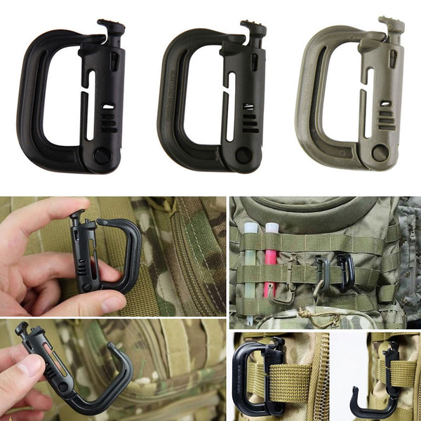 Outdoor Tactical D-Ring Snap Clip Carabiner Shackle