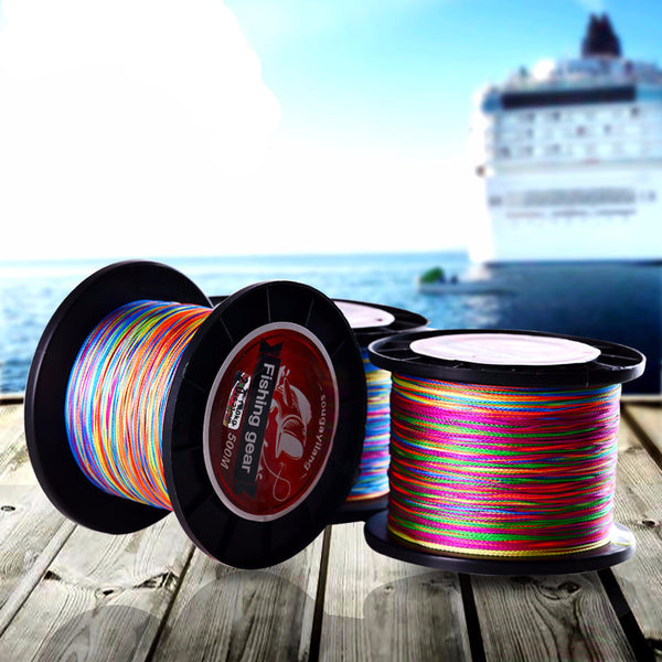 500M Colorful Braided Fishing Line No.0.4 to 8
