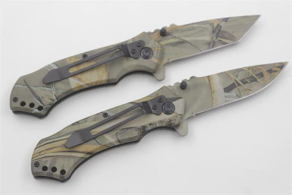 CAMO Tactical Hunting Stainless Steel Folding Knife