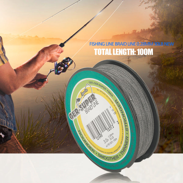 100m Super Strong Braided Fishing Line 0.28MM 30LB