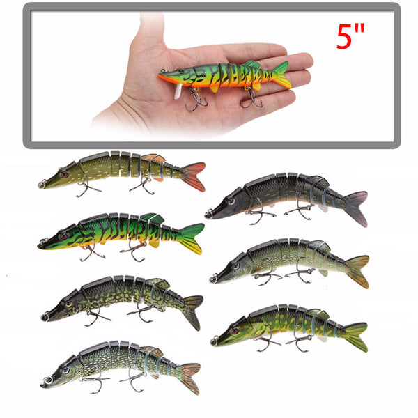 12.5cm Multi-Jointed Pike Swim-bait Fishing Lure