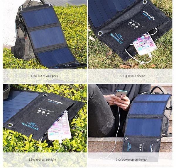 Light and Smart Portable Solar Charger
