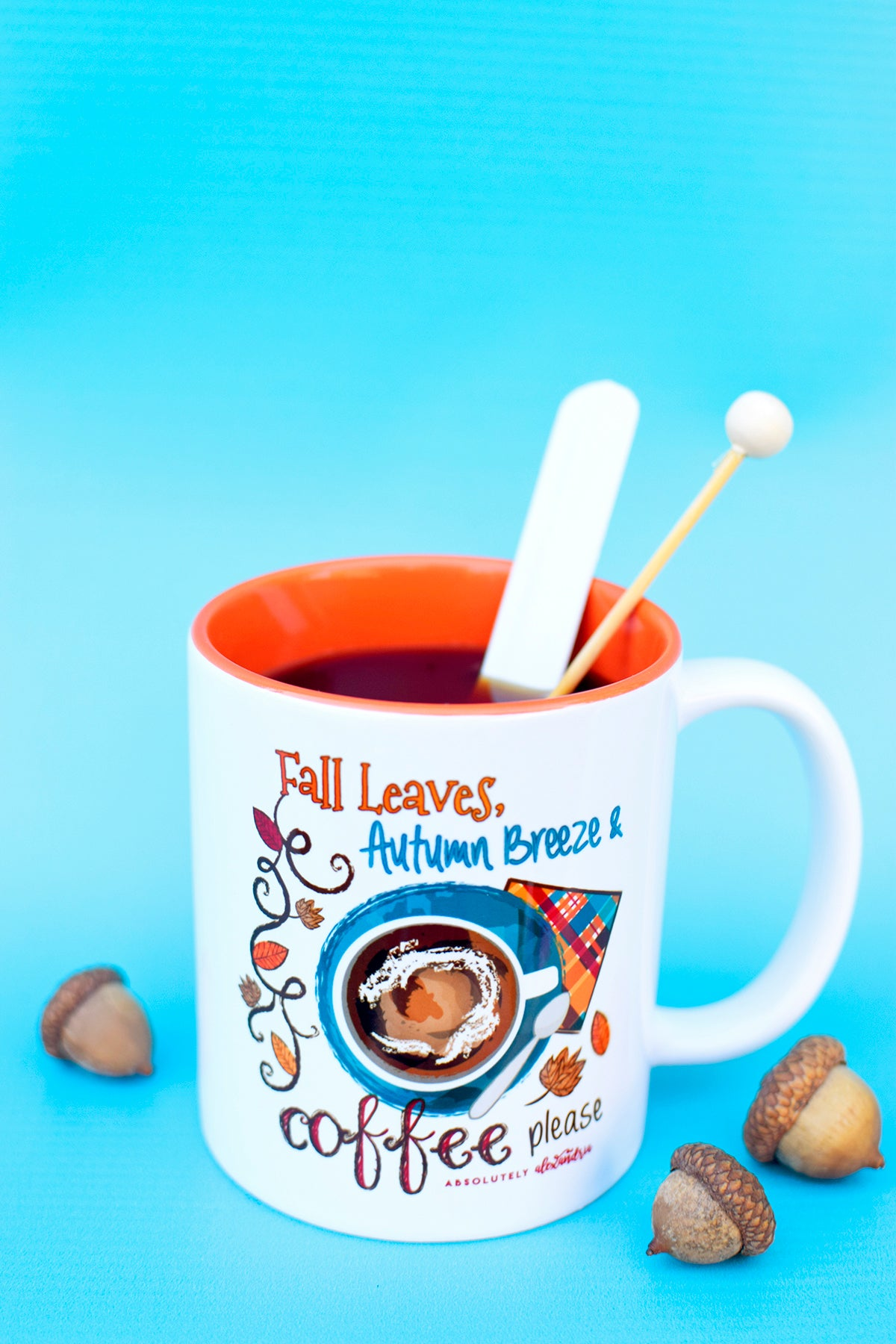 Fall Leaves, Autumn Breeze & Coffee Please Mug