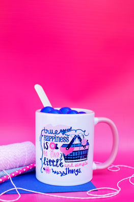 Happiness Is In The Little & Simple Things Mug