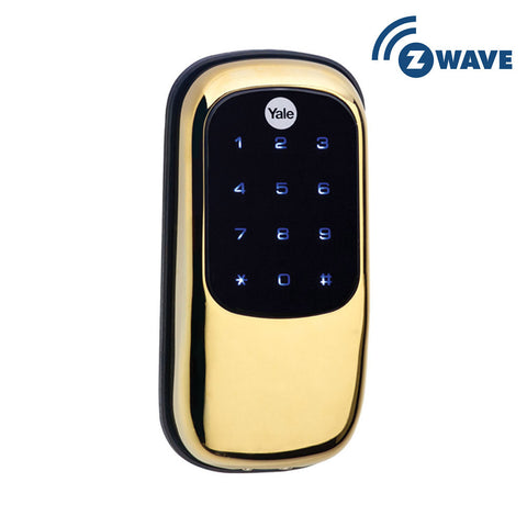 YALE YRD240ZW605 KEY FREE Z WAVE TOUCHSCREEN DEADBOLT - Polished Brass