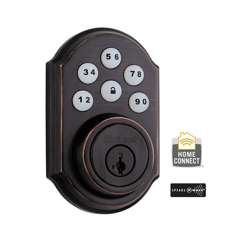 KWIKSET MOTORIZED Z-WAVE DEADBOLT- OIL RUBBED BRONZE