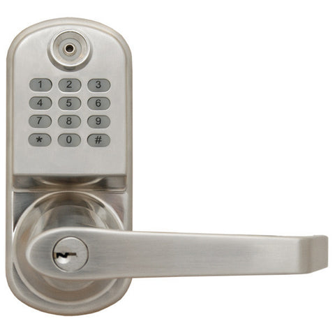 ResortLock RL2000 Electronic Lever Door Lock - Silver