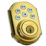 KWIKSET MOTORIZED Z-WAVE DEADBOLT-POLISHED BRASS