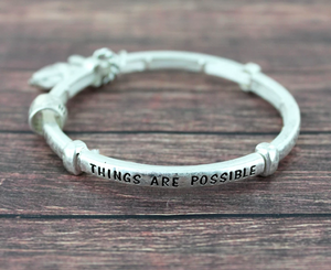 WITH GOD ALL THINGS ARE POSSIBLE STRETCH BRACELET