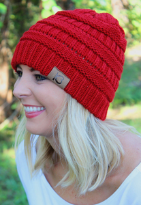 COZY RED CAMPFIRE BEANIE
