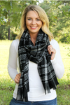 SCARF - BLACK PLAID