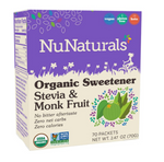Organic Stevia & Monk Fruit Sweetener Packets - 70 Count