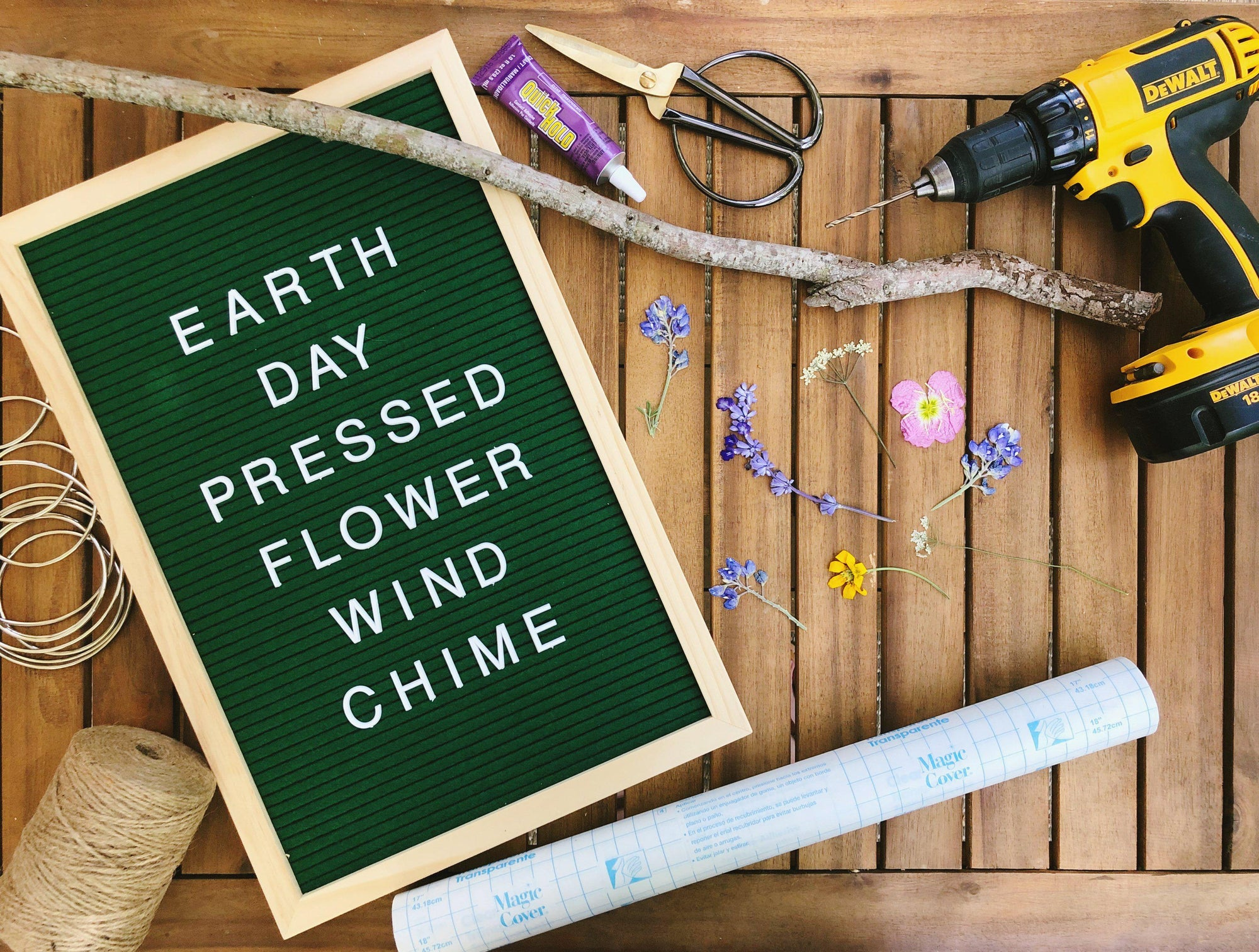 Earth Day DIY | Pressed Flower Wind Chime