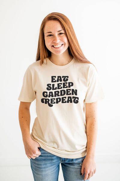 Eat, Sleep, Garden, Repeat Tee