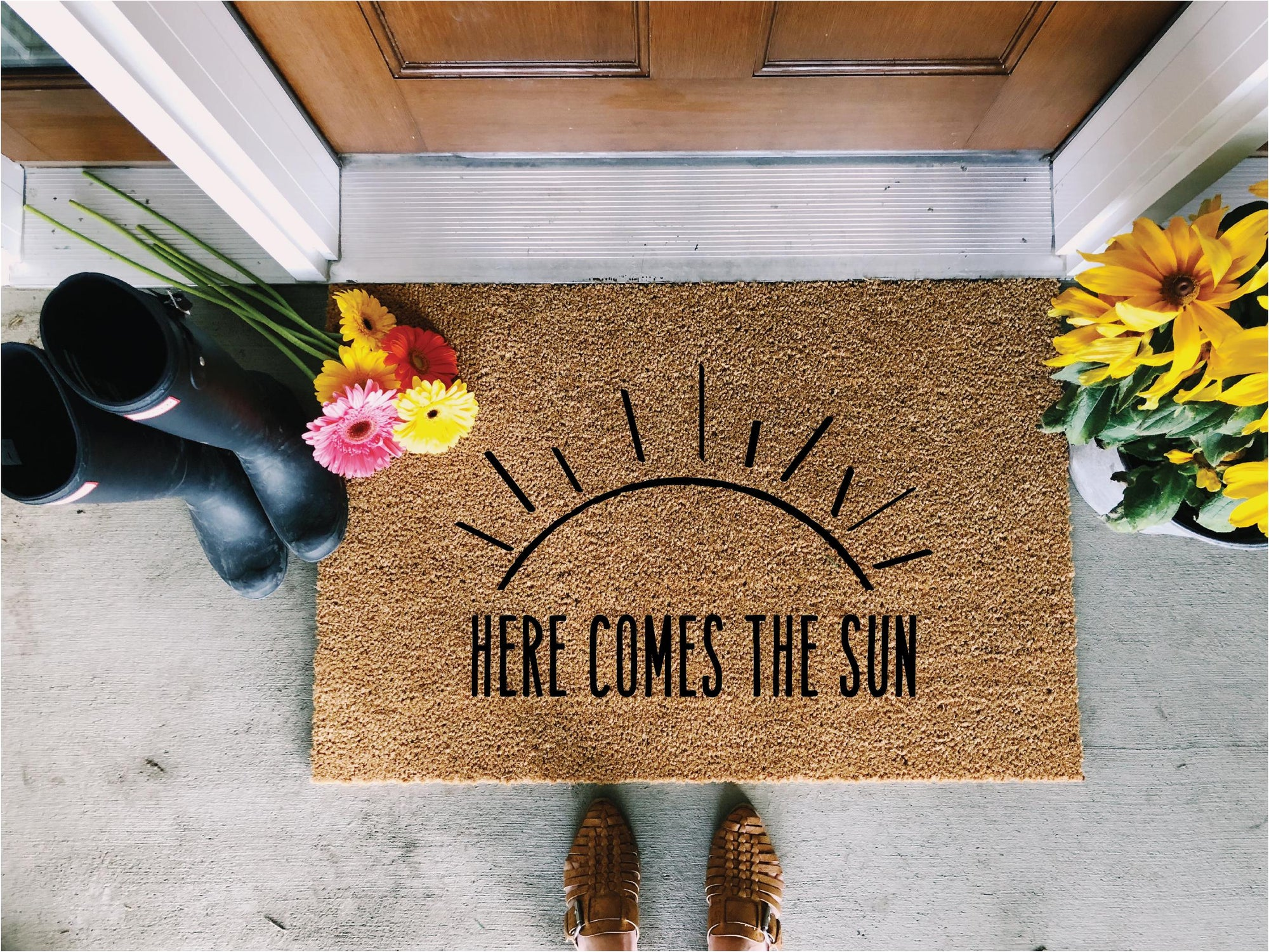 Here Comes the Sun Doormat