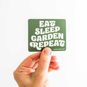 Eat, Sleep, Garden, Repeat Sticker