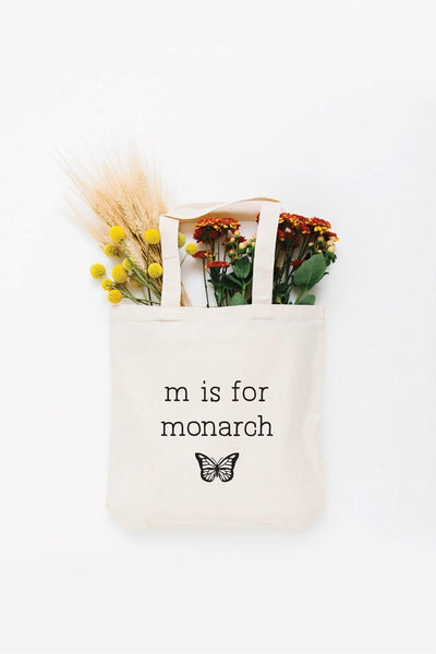 M is for Monarch Tote Bag